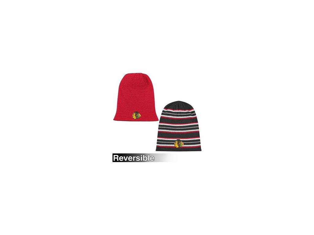 Reebok chicago blackhawks  Faceoff Long Reversible Knit Hat