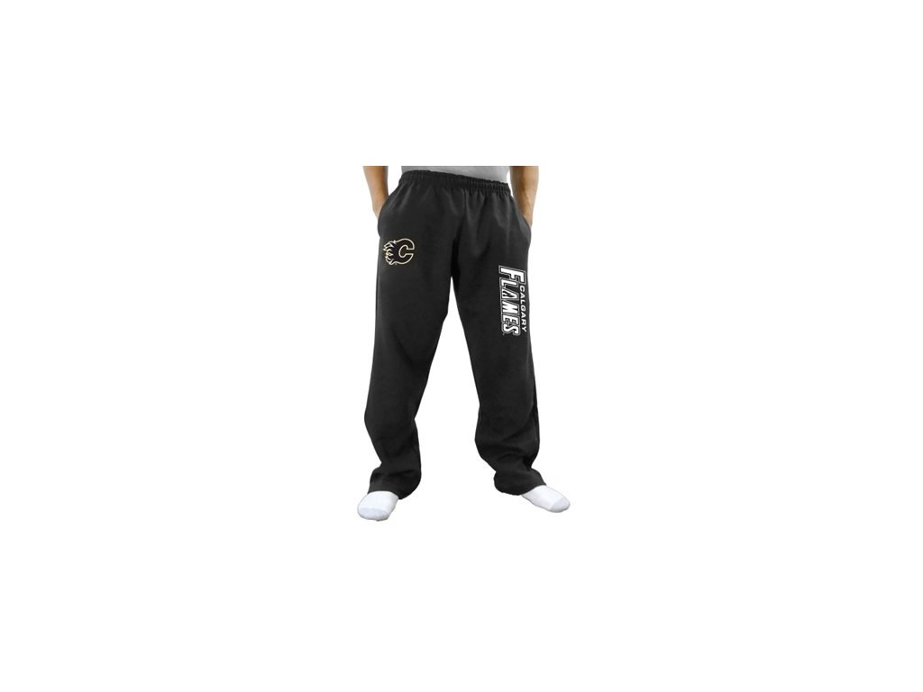 Tepláky Calgary Flames Two Hit Fleece Pants - černé