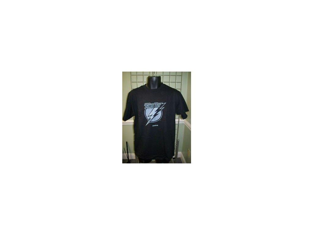 Tričko  - Tampa Bay Lightning - primary logo - černé