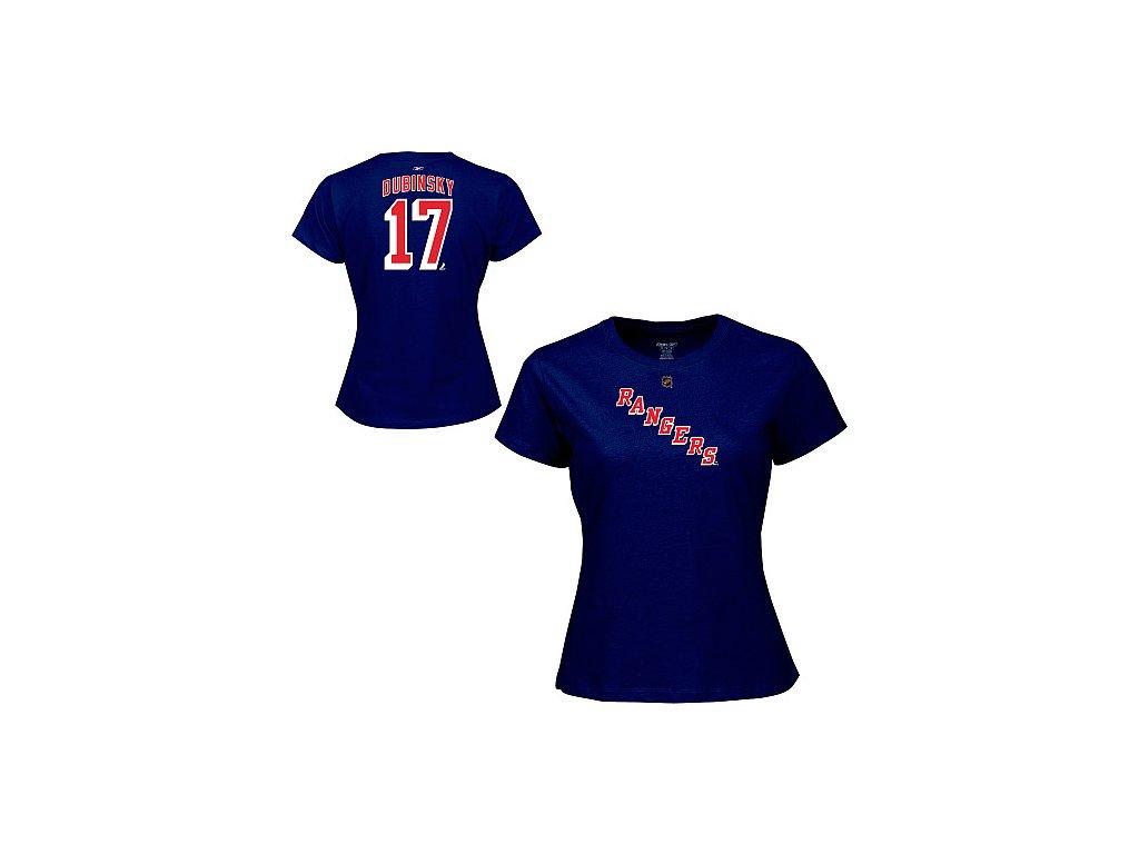 Tričko - #17 - Brandon Dubinsky - New York Rangers - dámské