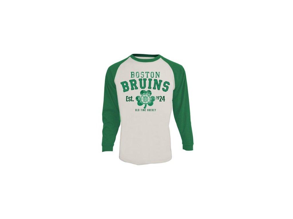 Tričko - Boston Bruins St. Patricks Ballenger - Dlouhý rukáv