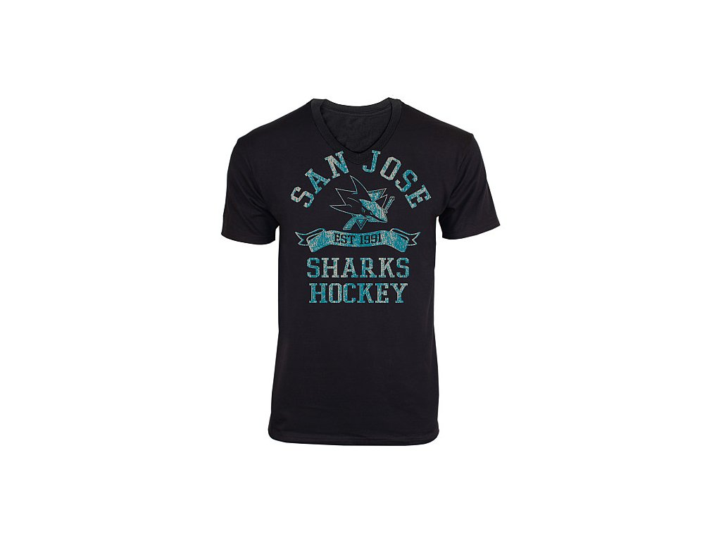 Tričko - Dive V-Neck - San Jose Sharks