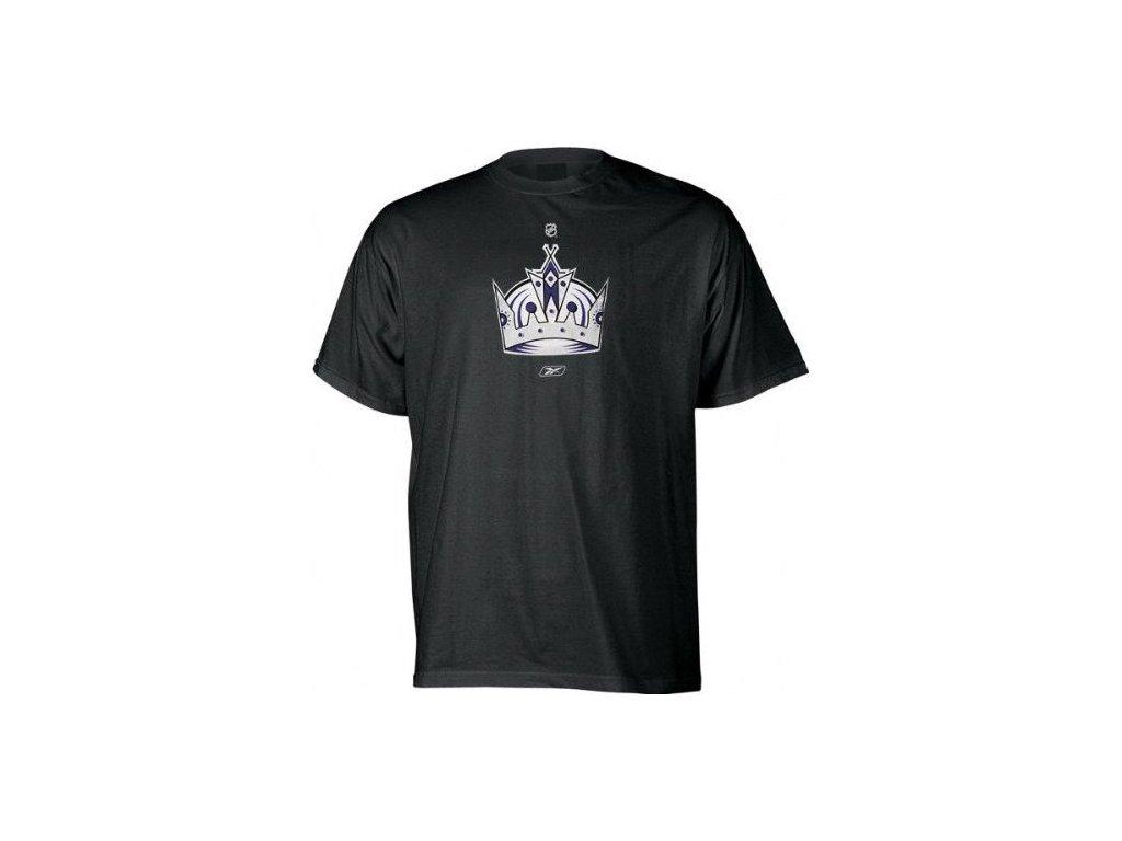Tričko - Primary Logo - Los Angeles Kings (alternate) - černé