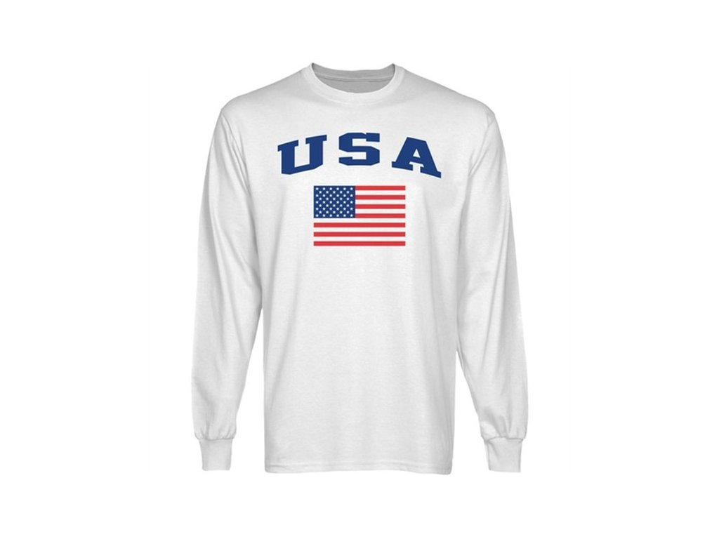 Tričko - USA Flag - dlouhý rukáv