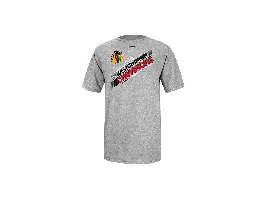 Tričko - Western Conference Champions Locker Room - Chicago Blackhawks