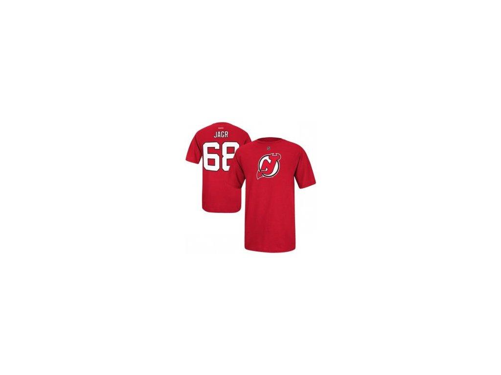Tričko #68 Jaromír Jágr New Jersey Devils Tri Blend