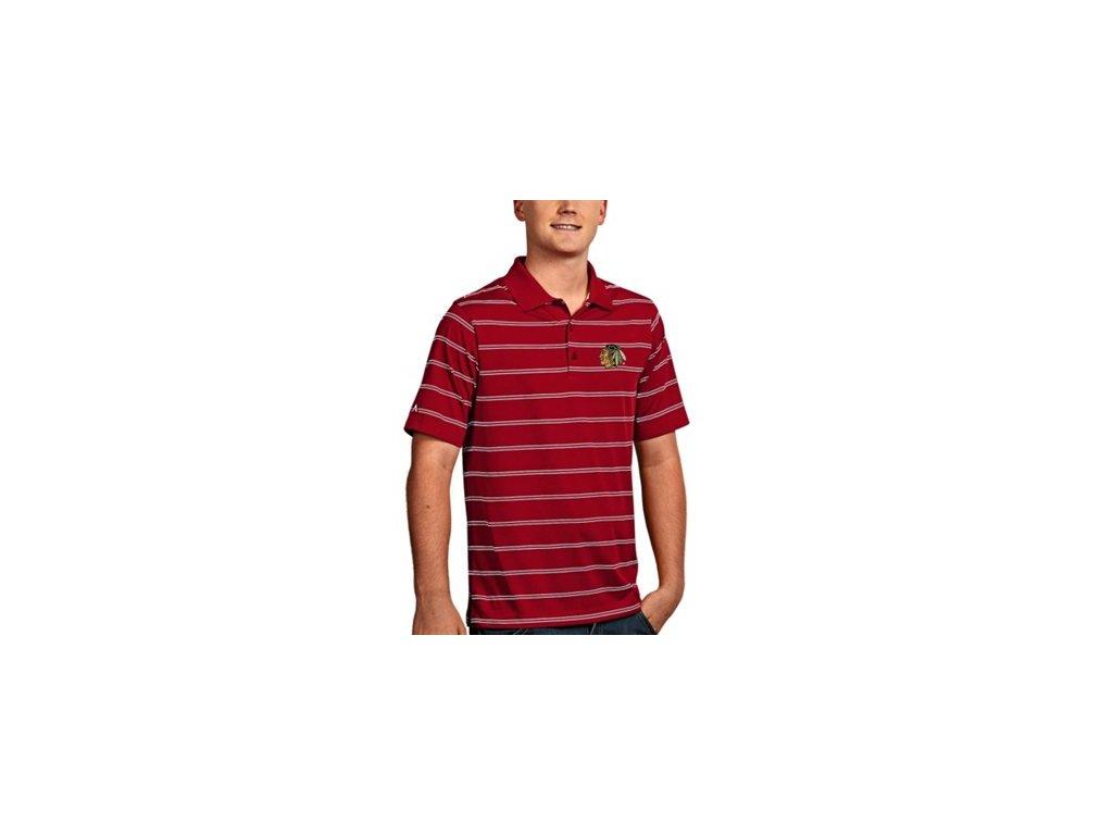 Tričko Chicago Blackhawks  Deluxe Polo - červené