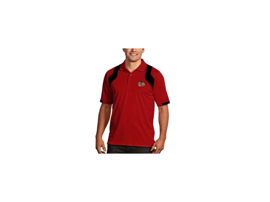 Tričko Chicago Blackhawks Fusion Polo - červené