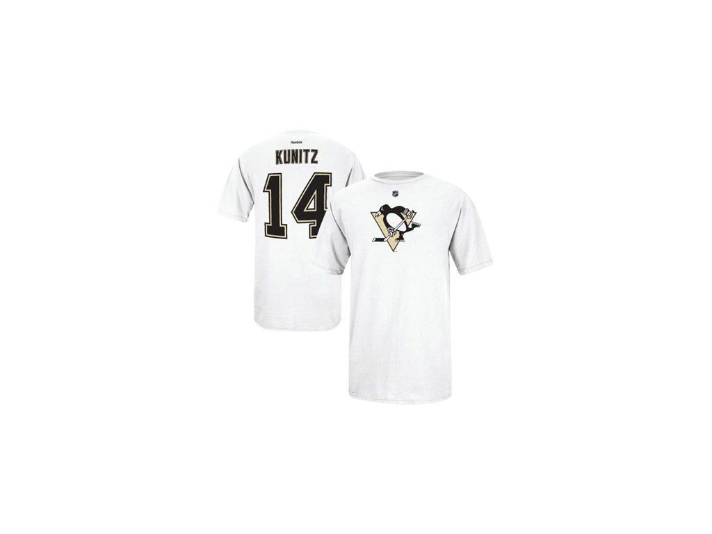Tričko Chris Kunitz #14 Pittsburgh Penguins - Bílé