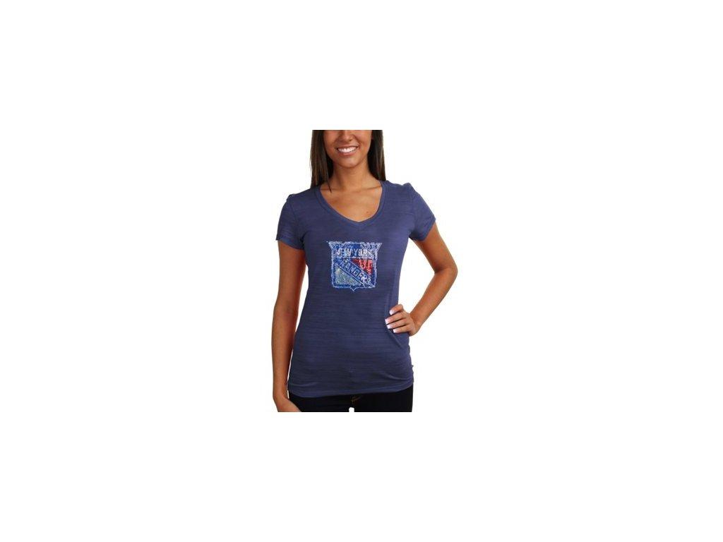 Tričko New York Rangers Sequin Logo - dámské