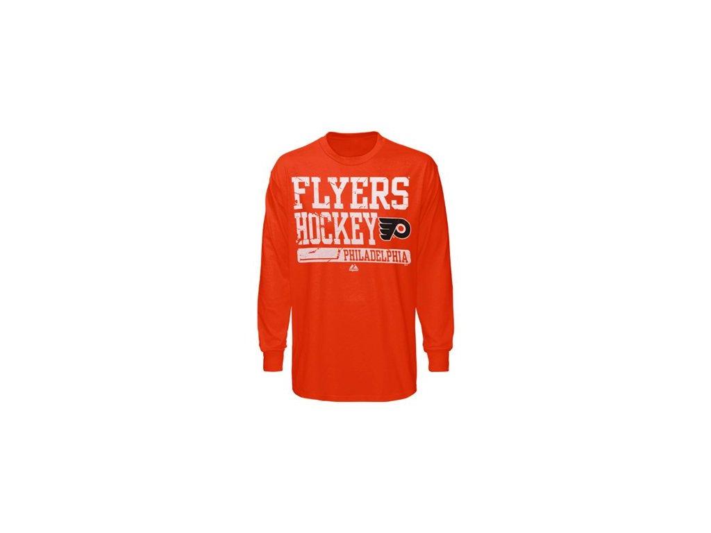 Tričko Philadelphia Flyers Puffless Goal Cage - dlouhý rukáv