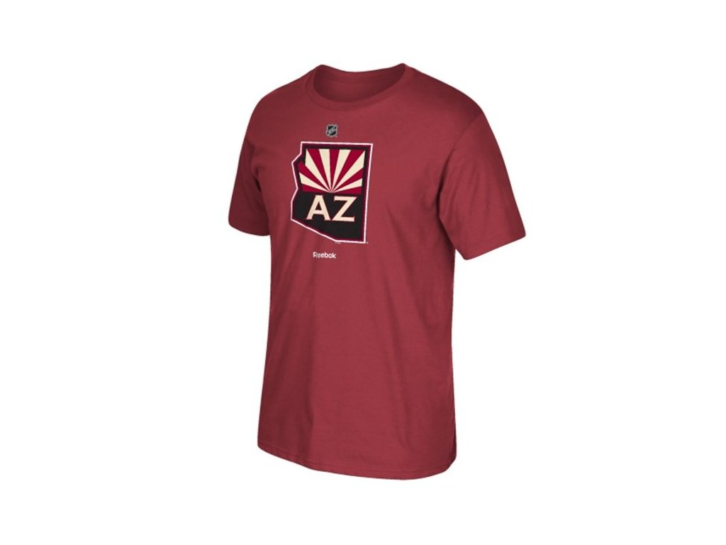 Tričko - Primary Logo - Arizona Coyotes (Phoenix Coyotes) - vínová