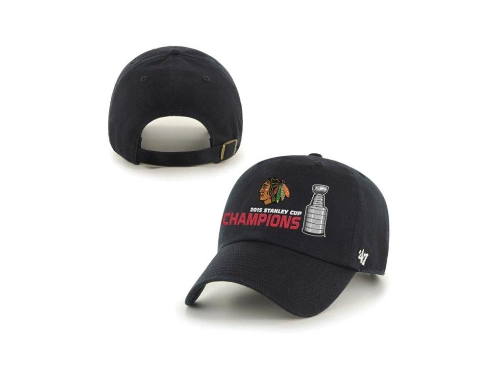 Kšiltovka Chicago Blackhawks 2015 Stanley Cup Champions Stanley Cup Champions Clean-Up BLACK