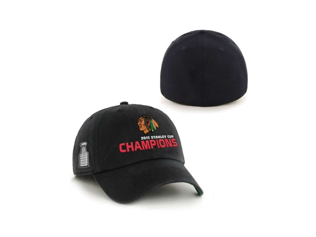 Kšiltovka Chicago Blackhawks 2015 Stanley Cup Champions Franchise BLACK