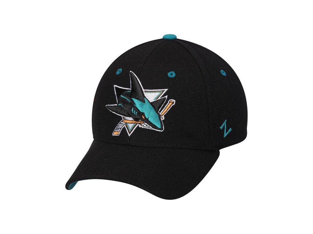 0cd2004a2db Kšiltovka San Jose Sharks Zephyr Breakaway Flex černá - Fanda-NHL.cz