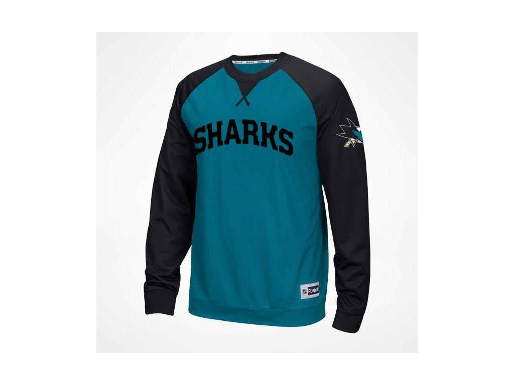 Mikina San Jose Sharks Adidas Jersey Lace-Up Pullover Hoodie - Fanda-NHL.cz 6b075e581
