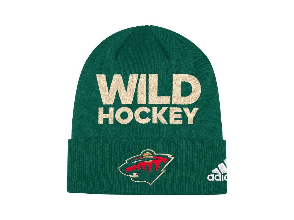 Zimní Čepice Minnesota Wild Locker Room 2017 - Fanda-NHL.cz ef34b8f901