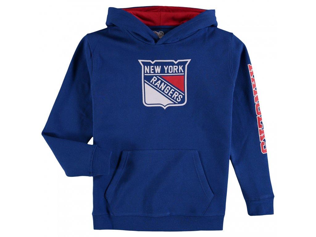 Mikina New York Rangers Adidas Jersey Lace-Up Pullover Hoodie - Fanda-NHL.cz 7c498e3f0