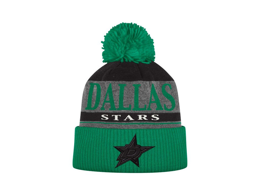 b16cbd489b6 ... clearance kulich dallas stars cuffed knit hat with pom 3d90d 1e28e