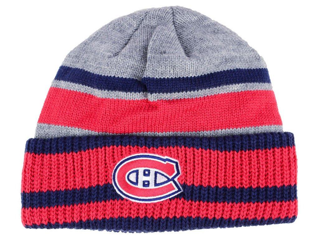 953bdfec59c Zimní čepice Montreal Canadiens adidas NHL Heathered Grey Beanie ...