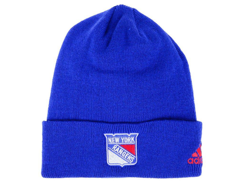 689bc7048c0 Zimní čepice New York Rangers adidas NHL Basic Cuff Knit BLUE ...