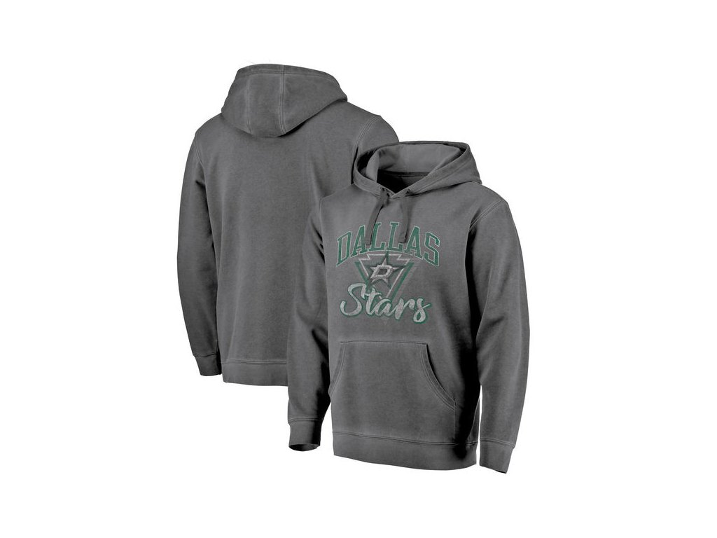 Mikina Dallas Stars Shadow Washed Retro Arch Pullover Hoodie