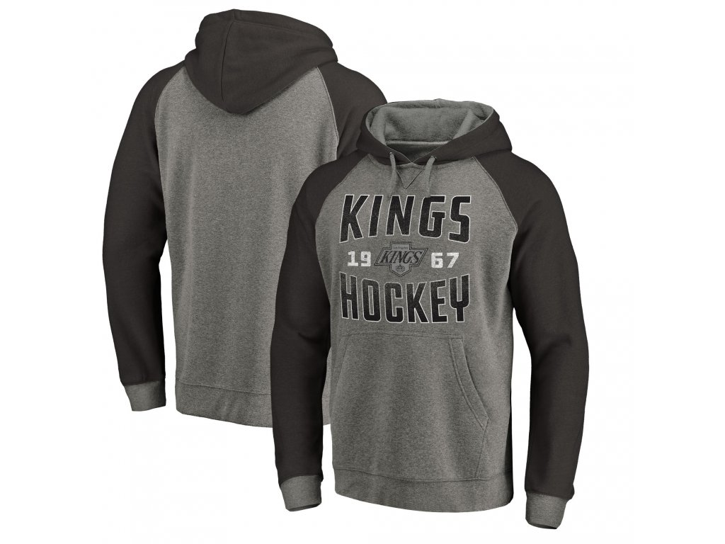 Mikina Los Angeles Kings Timeless Collection Antique Stack Tri-Blend Raglan 58a316e9c0