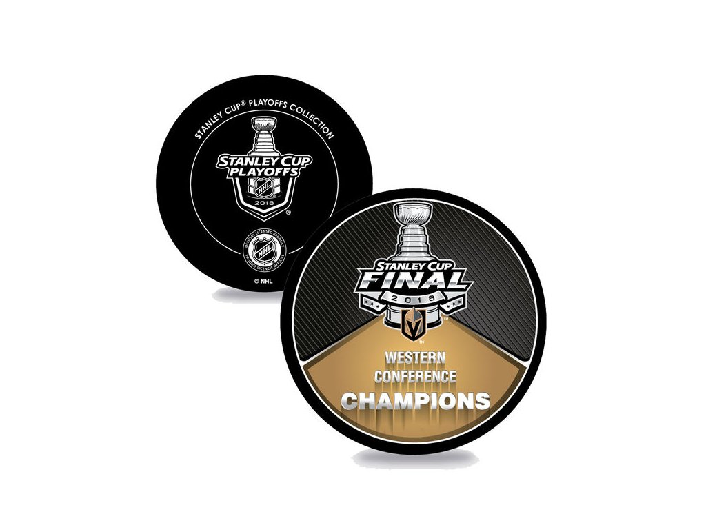 Puk Vegas Golden Knights 2018 Western Conference Champions