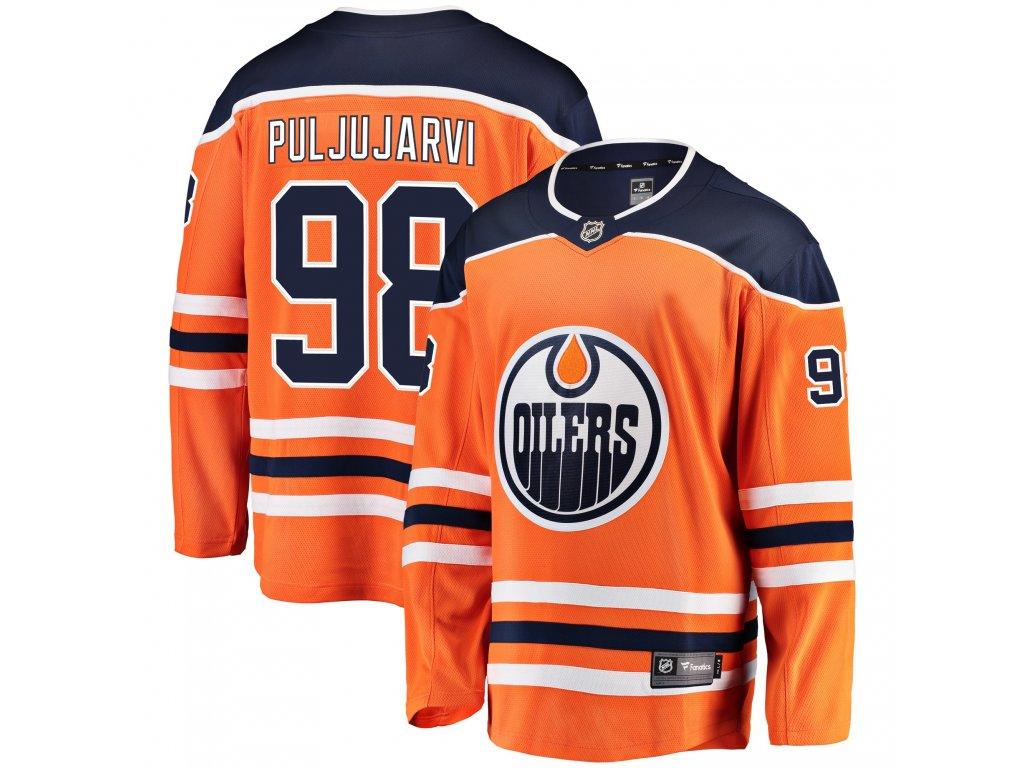 finest selection 83b7e a74e4 Dres Edmonton Oilers #98 Jesse Puljujarvi Breakaway Alternate Jersey