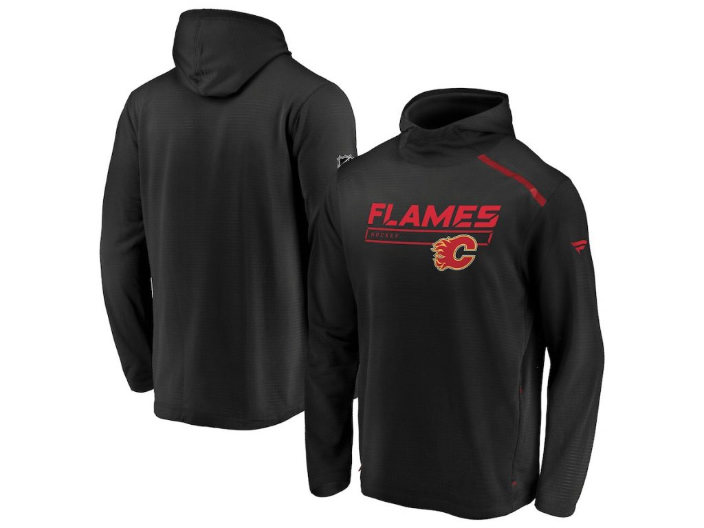 Mikina Calgary Flames Authentic Pro Rinkside Transitional Pullover Hoodie