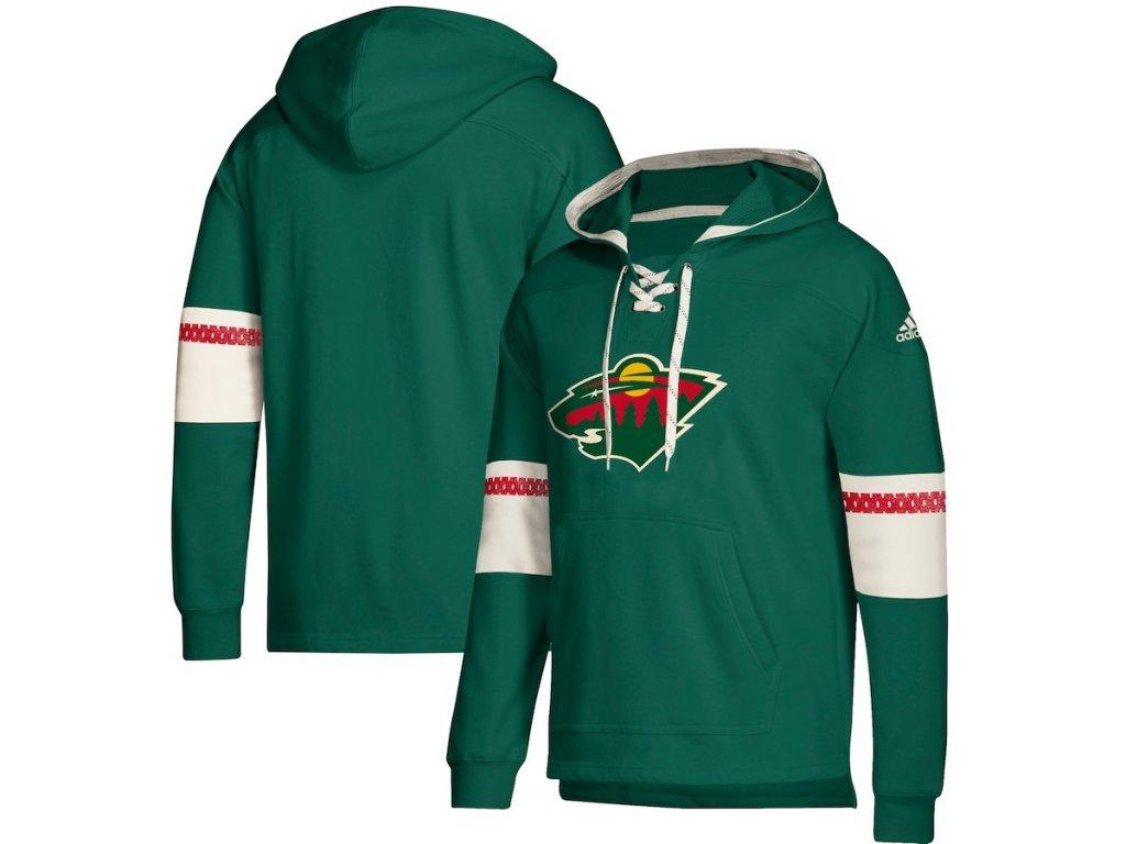 Mikina Minnesota Wild Adidas Jersey Lace-Up Pullover Hoodie - Fanda ... a1d97e5b1