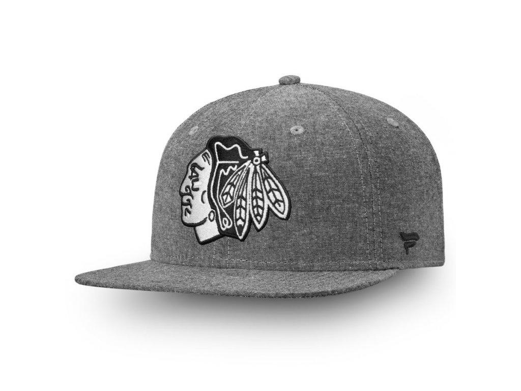 new product 33a79 a07c5 Kšiltovka Chicago Blackhawks Chambray Emblem Snapback