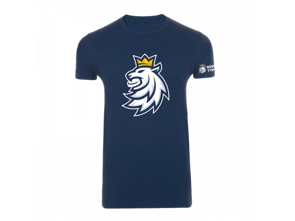 Tričko pánské logo lev Český hokej navy