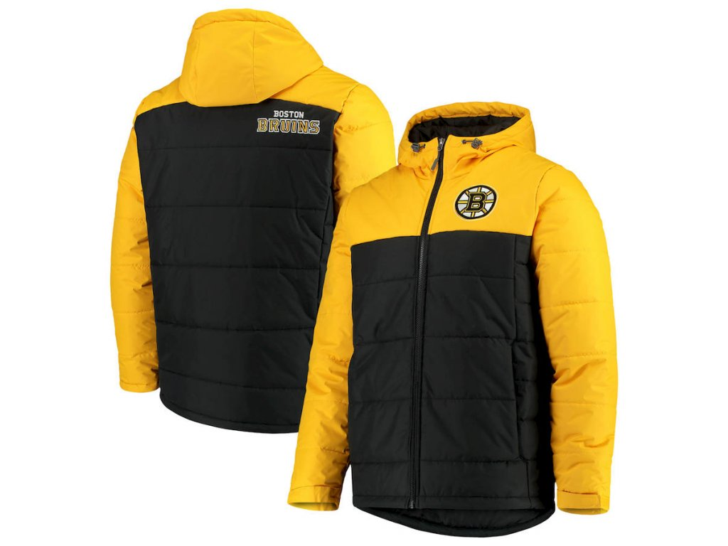 Zimní Bunda Boston Bruins G-III Sports by Carl Banks Exploration Polyfill Hooded Parka