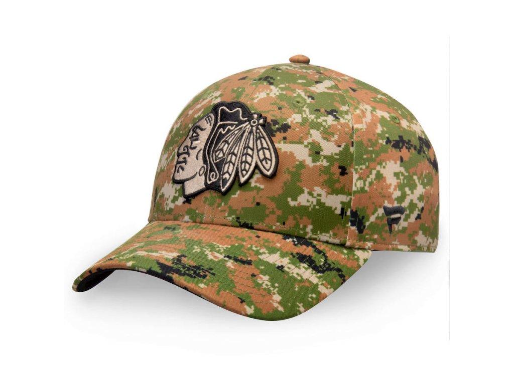 Kšiltovka  Chicago Blackhawks Authentic Pro Military Appreciation Alpha Adjustable