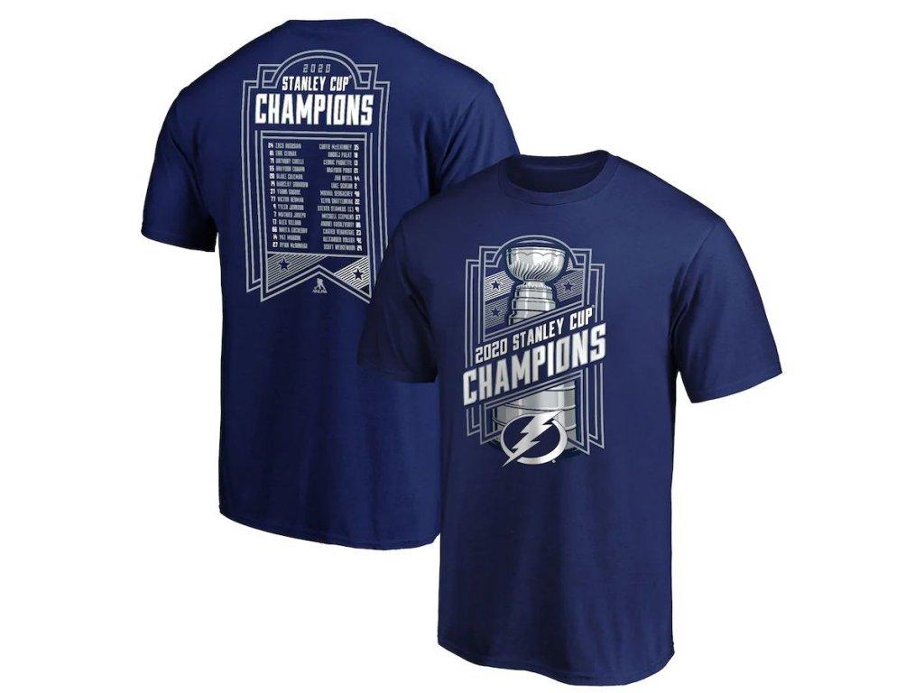Pánské tričko Tampa Bay Lightning 2020 Stanley Cup Champions Give and Go Roster