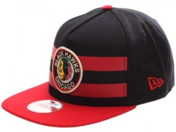 kšiltovka Chicago Blackhawks Double Stripe Snapback