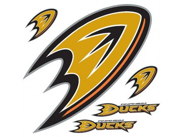 Logo na stěnu - Peel and Stick - Anaheim Ducks