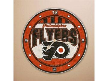 NHL nástěnné hodiny Philadelphia Flyers Art Glass Wall