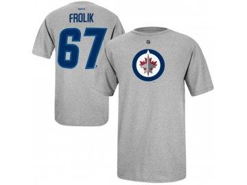 NHL tričko Michael Frolík #67 Winnipeg Jets NHLPA - šedé