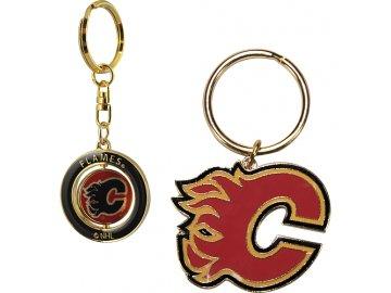 Přívěšek - Calgary Flames - 2 kusy