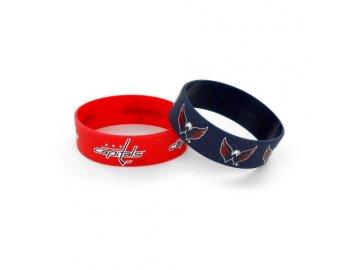 Silikonový náramek - Washington Capitals - 2 kusy