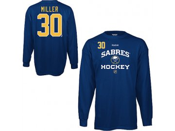 Tričko - #30 - Ryan Miller - Buffalo Sabres - Authentic - dlouhý rukáv