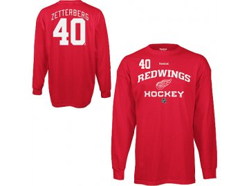 Tričko - #40 - Henrik Zetterberg - Detroit Red Wings - Authentic - dlouhý rukáv