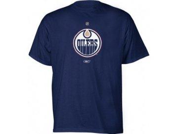 Tričko - Primary Logo - Edmonton Oilers - modré