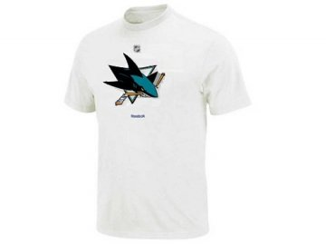 Tričko - Primary Logo - San Jose Sharks - bílé