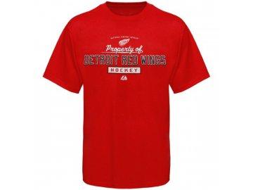 Tričko - Property Of - Detroit Red Wings