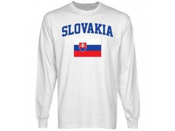 Tričko - Slovakia Flag - dlouhý rukáv
