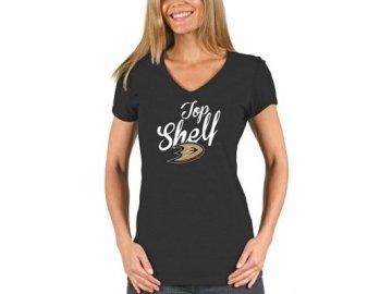 Tričko Anaheim Ducks Shelf Tri-Blend - dámské