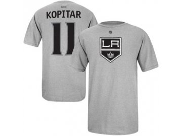 Tričko Anze Kopitar #11 Los Angeles Kings Third Logo - šédé